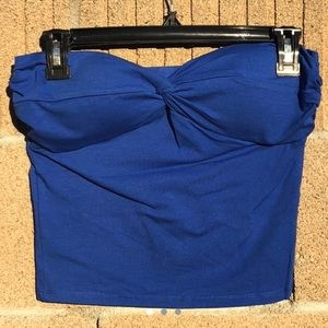 Forever 21 Blue Twist Strapless Crop Top - NWT